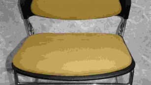 Yellow Chairs Padded stackable